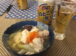 Nabe with beer